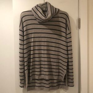 Madewell striped cowl neck sweater